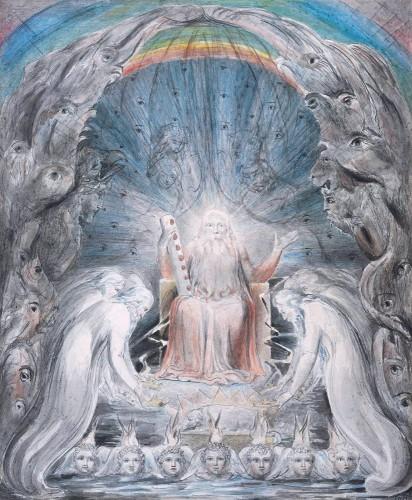 william blake,ulver,poésie,enfer,peinture,romantisme,les 24 vieillards jettent leurs couronnes devant le trône divin,méditation parmi les tombes,diable,ciel,chansons,mythes,sylvain métafiot,dieu,lumière,pluton,âme,divin,augures d'innocence,infini