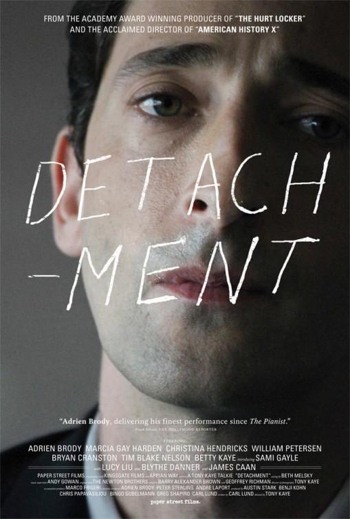 The Detachment, Tony Kaye, Adrian Brody, bonnet d'âne, violence scolaire, lycée difficile,mauvais, démagogique,Sylvain Métafiot,